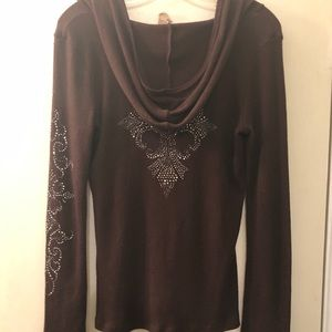 Vocal Tops - Vocal Embellished Hoodie Top XL